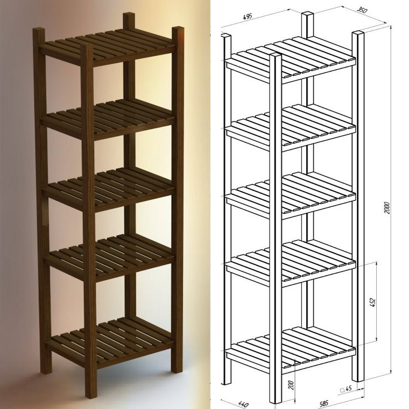 solidworks internet found model : https://grabcad.com/library/shelf-for-different-things-1